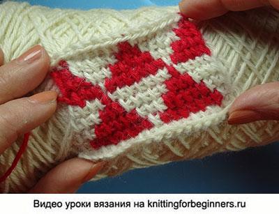 начинаем вязать видео уроки вязания вязание тунисского жаккарда